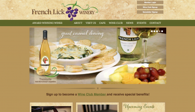 French Lick Winery Website